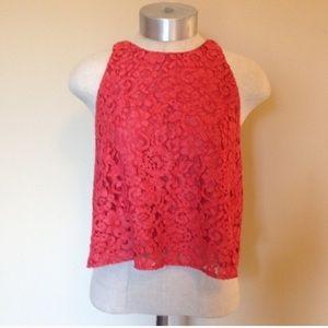 Zara woman Lace crop top sleeveless